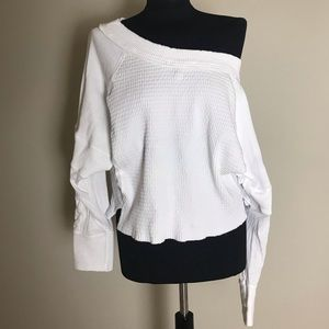 Free People White Off Shoulder Top